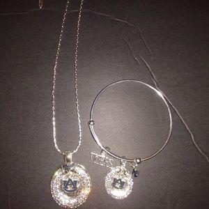 Auburn University  Necklace & Bracelet Set